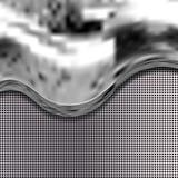 Liquido metallico su struttura della griglia Fondo astratto di vettore con spazio per testo Fotografia Stock