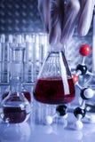 Liquido puro rosso fotografie stock