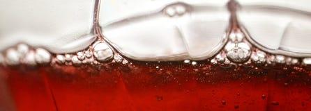 Liquido rosso Fotografia Stock Libera da Diritti