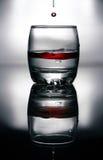 Liquido rosso sangue in vetro Immagini Stock Libere da Diritti