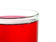 Liquido rosso in vetro Immagine Stock Libera da Diritti