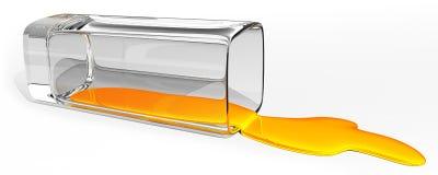 Liquido rovesciato Fotografia Stock