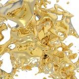 Liquids. This is a 3d sculpture of a liquid form Stock Photography