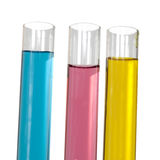 Liquids in test tubes Royalty Free Stock Photo