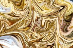 Liquify Abstract Pattern With Yellow, Brown And White Graphics Color Art Form. Digital Background With Liquifying Flow.  vector illustration