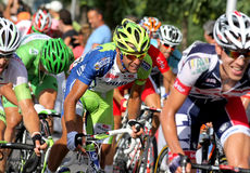 Liquigas Cannond Italian cyclist Cristiano Salerno Royalty Free Stock Images