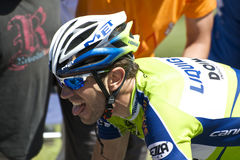 Liquigas Cyclist Royalty Free Stock Images