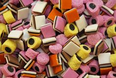 Liquirizia zuccherata e dolce Immagine Stock