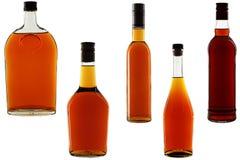 Liquor. Bottles of liquor, isolated on a white background Stock Photo