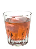 Liquor. Whiskey sour on the rocks isolated on a white background Stock Images
