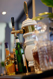 Liquor on bar counter Royalty Free Stock Images