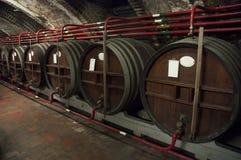 Liquor barrel basement Stock Image