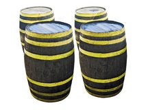 Liquor Barrels Isolated Royalty Free Stock Photography
