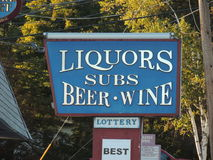 Liquor beer win and subs Stock Photos
