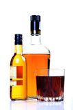 Liquor bottle. S over white background Royalty Free Stock Images