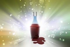 Liquor bottle stock illustration