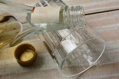 Liquor  Bottle on Glass Royalty Free Stock Photo
