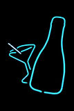 Liquor Bottle Martini Neon Sign Stock Photography