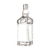 Liquor bottle sketch icon Stock Photography