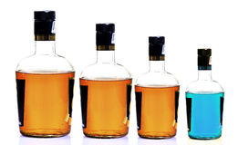 Liquor bottles stock photos