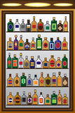 Liquor Bottles Royalty Free Stock Images
