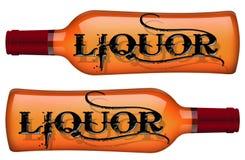 Liquor bottles Sign  Stock Photos