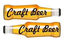 Liquor bottles Sign Craft Beer Royalty Free Stock Photos