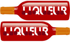 Liquor bottles Sign Royalty Free Stock Images