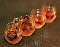Liquor or brandy on table Stock Photo