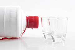 Liquor and cups Royalty Free Stock Photography