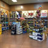 Liquor Products At A local Supermarket. Liquor department in a supermarket for customers to purchase. Photo was taken in Gilbert Arizona Stock Photography