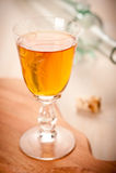 Liquor in a glass Stock Photo