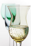 Liquor Glass On White Background Stock Photos