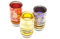 Liquor in glasses Stock Photos