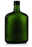 Liquor in the green glass bottles. Stock Photography