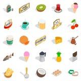 Liquor icons set, isometric style. Liquor icons set. Isometric set of 25 liquor vector icons for web isolated on white background Stock Photos