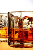 Liquor on The Rocks Stock Photo