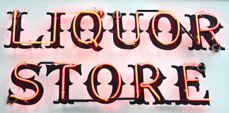 Liquor Sign stock image