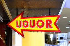 Liquor Sign Royalty Free Stock Photography