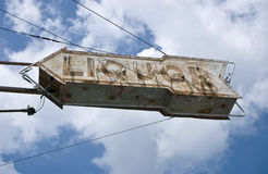 Liquor Sign Royalty Free Stock Images