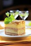 Liquor soaked cake Stock Image