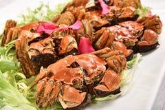 Liquor-Soaked crabs Stock Photos