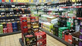 Liquor Store. Alcohols in an Aldi liquor shop, Australia Stock Photography