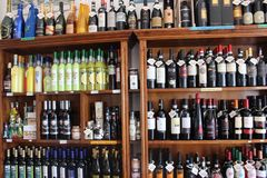 Liquor Store, Distilled Beverage, Alcoholic Beverage, Drink royalty free stock photos