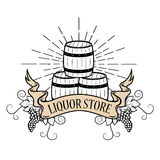 Liquor store label Stock Photos