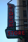 Liquor Store. A neon sign for a liquor store in New York City Royalty Free Stock Images