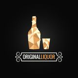 Liquor store poly design background Stock Images