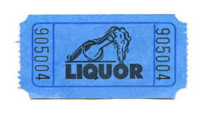 Liquor Ticket Stock Images
