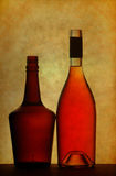 Liquor and wine bottles Royalty Free Stock Image