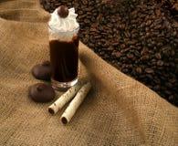 Liquore del caffè dopo il commensale fotografia stock libera da diritti